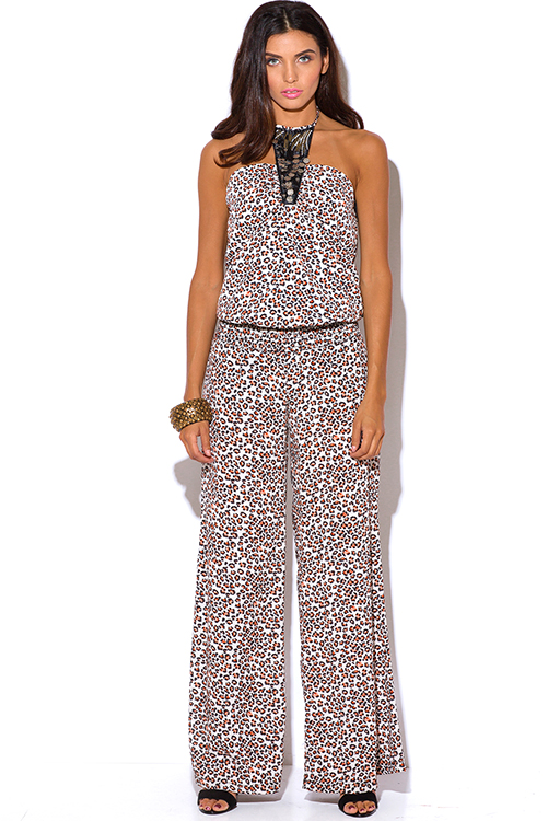 ANIMAL PRINT HIGH WAISTED WIDE LEG PANTS | Cute Wide Leg Pants ...