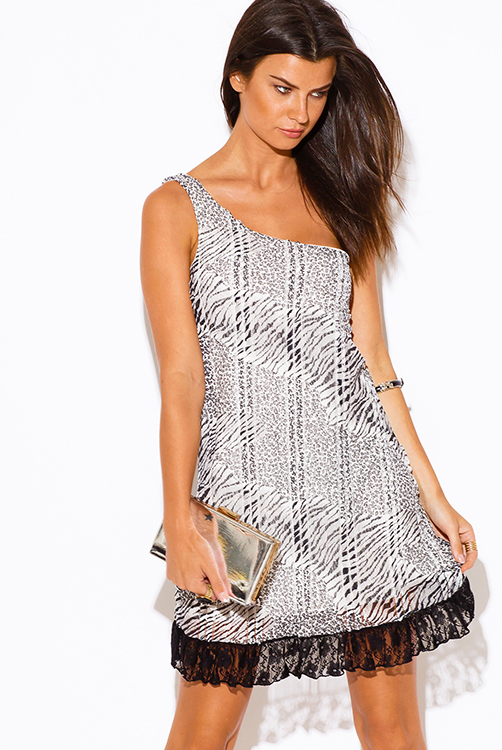 Get more out of fbcpmhoe.cf Help. Search in All Departments Auto & Tire Baby Beauty Books Cell Phones Clothing Electronics Food. Juniors Zebra Print Mini Dress Black White Dress Overlay Racerback. Average rating: 0 out of 5 stars, based on 0 reviews Write a .