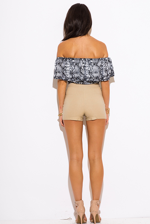 Girls' high-waisted shorts, perhaps with some embellished details, make excellent options for after the sun sets. With an easy woven camisole or halter crop top, you'll be ready for those parties on the beach or just wear them over your bikini.