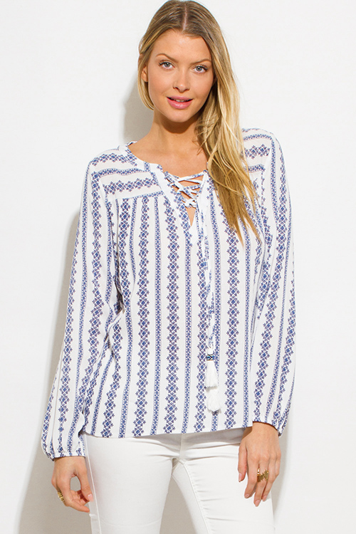 Peasant blouses are named like something that stepped out of the past, and yes, you can say that they do- however, the cheap peasant blouses that we stock are not outdated by any means!