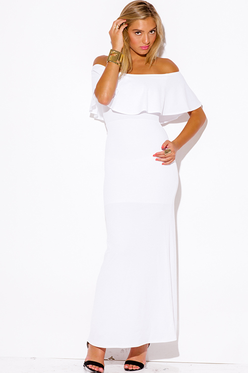 Fashion Blog: Off The Shoulder White Maxi Dress