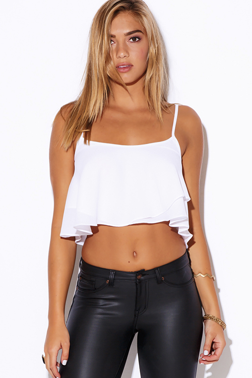 Show off your midriff with trendy crop tops from ruecom! Our colorful, cute crop tops look good styled for day or night!