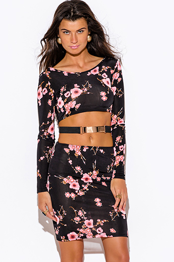 $10 - Cute cheap cute body central animal print ruched sexy clubbing dress for cheap.html - cherry blossom floral print black cut out long sleeve metal bar bejeweled bodycon fitted clubbing mini dress