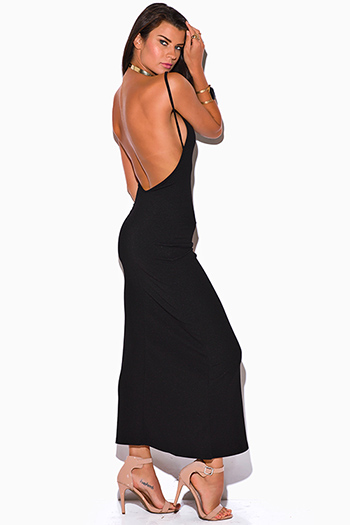 $10 - Cute cheap styles vegas dress sexy club party clubbing sequined neck bodycon metallic - black backless v neck fitted bodycon evening cocktail party maxi dress