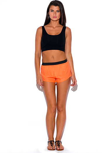 $5 - Cute cheap shorts - neon orange sporty shorts