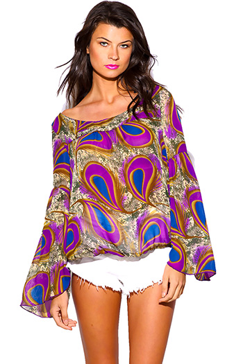 $10 - Cute cheap neon orange plus size blazer 72254 size 1xl 2xl 3xl 4xl onesize - plus size purple peacock print semi sheer chiffon boho blouse top