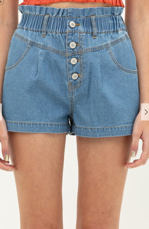 Cute cheap buttoned denim shorts