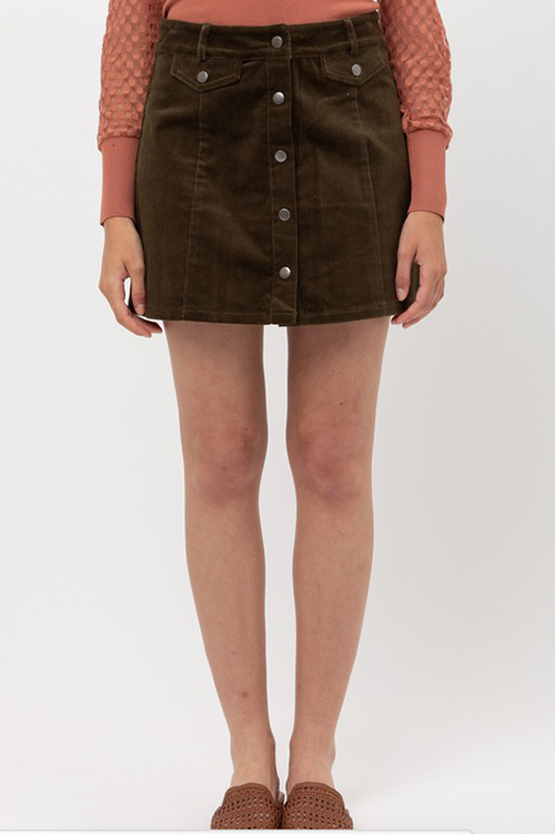 Cute cheap corduroy mini skirt