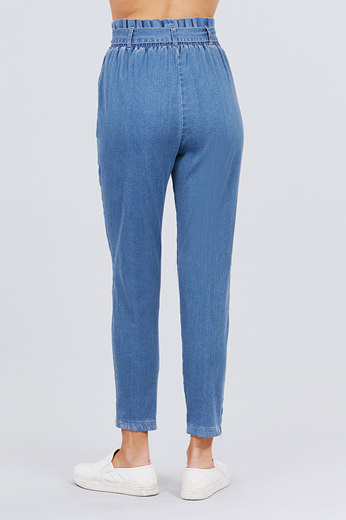 Cute cheap denim long pants