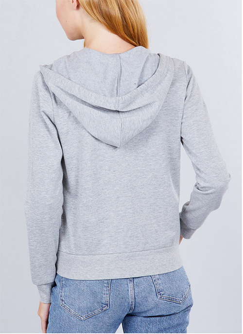 Cute cheap fleec french terry hoodie