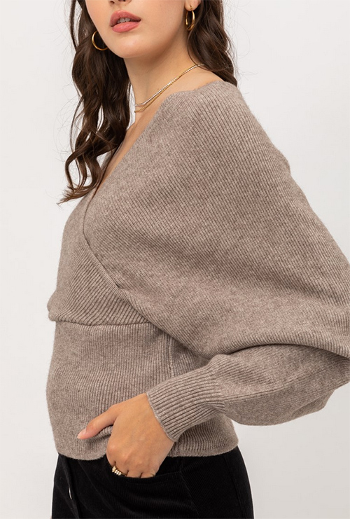 Cute cheap heavy fine soft yarn wrap sweater
