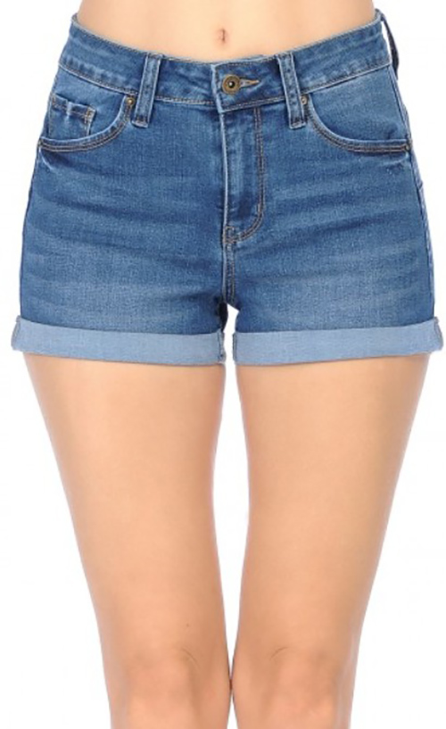 Cute cheap high-rise denim shorts