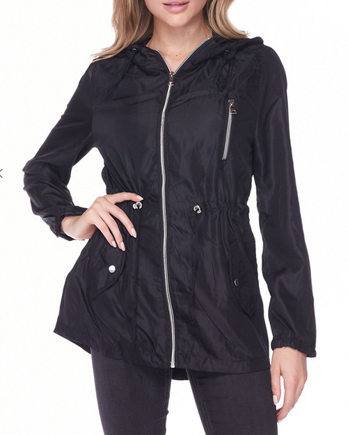 Cute cheap hooded anorak windbreker jacket