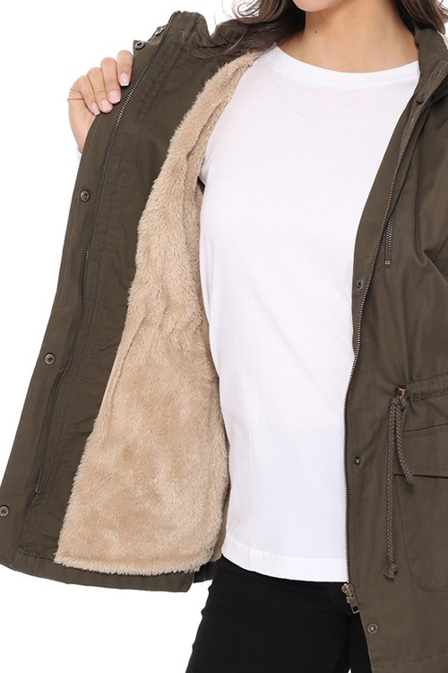 Cute cheap military vest with fur inside