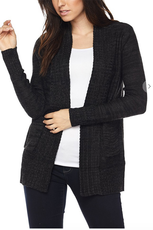 Cute cheap open sweater with pocked cardigan