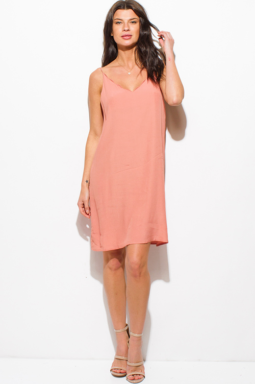 Cut Out Back Dress with Sleeves