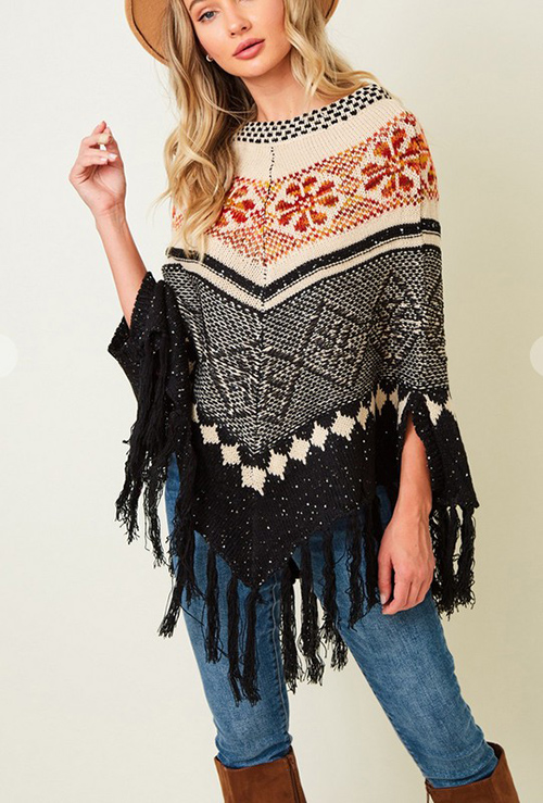 Cute cheap Poncho Sweater
