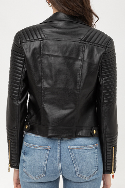 Cute cheap PU MOTO JACKET