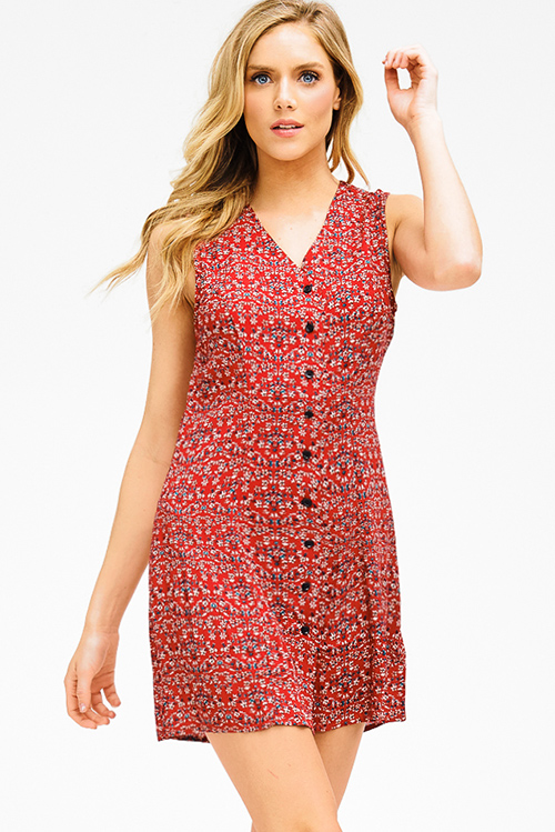 High Quality Sale Online How Much Online Sleeveless Top - Maroon Lines - sleeveless by VIDA VIDA Visit New Online Limited Edition Cheap Price jDupl