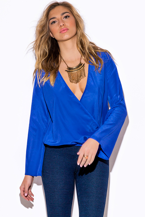 Cheap Royal Blue Blouse 23