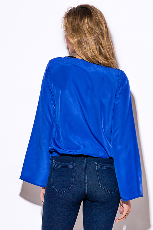 Cheap Royal Blue Blouse 5