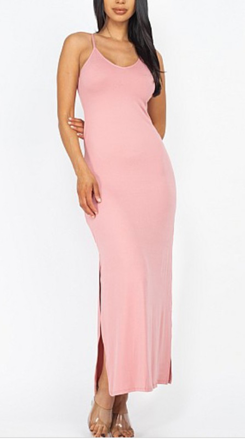 Cute cheap side slit lace up maxi dreaa