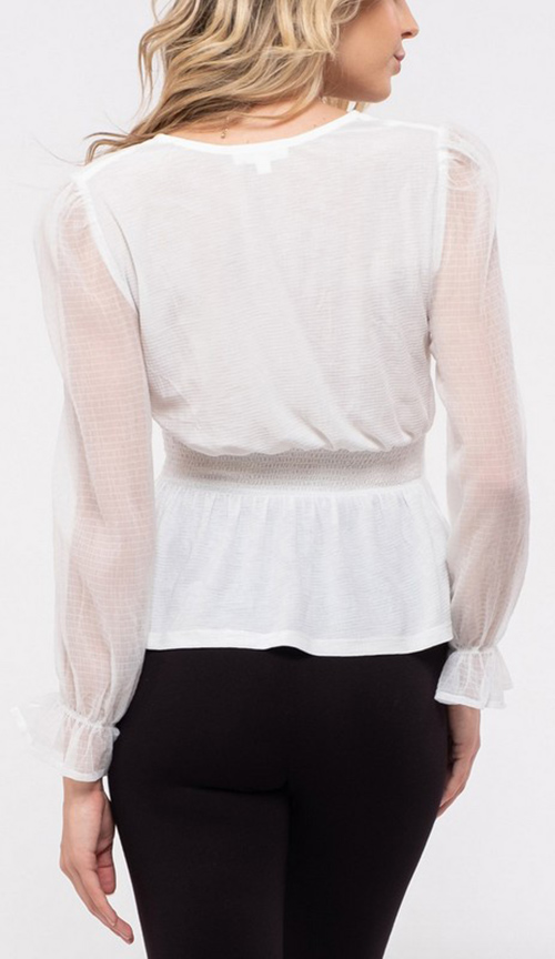 Cute cheap Solid knit top V neckline