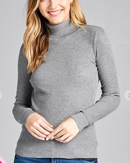 Cute cheap turtleneck long sleeve sweater
