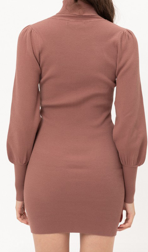 Cute cheap turtleneck sweater dress