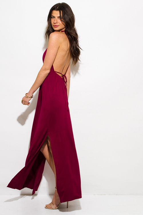 Burgundy maxi dress cheap