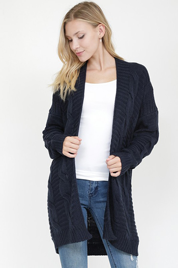 $32.00 - Cute cheap a cable knit cardigan sweater that features a variety of lattice