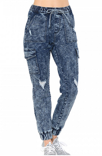 $27.00 - Cute cheap Acid Washed Destructed Cargo Pants