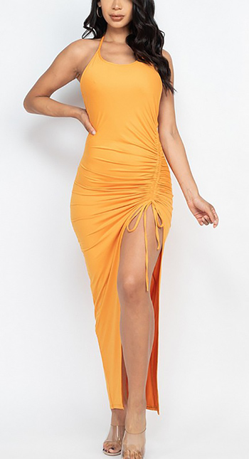 $22.50 - Cute cheap maxi dress - Adjustable ruched side and ruched back detail maxi dress