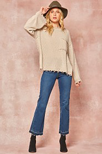 $49.50 - Cute cheap sweater - aribbed knit sweater