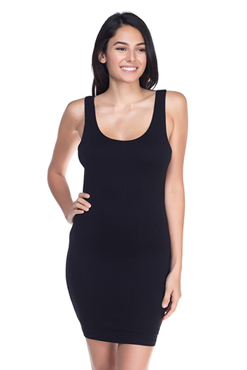 $15 - Cute cheap blue maxi dress - black fitted mini dress