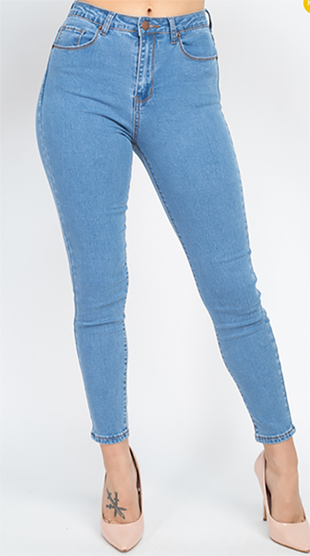 $17.50 - Cute cheap skinny jeans - capri high waist denim Jeans