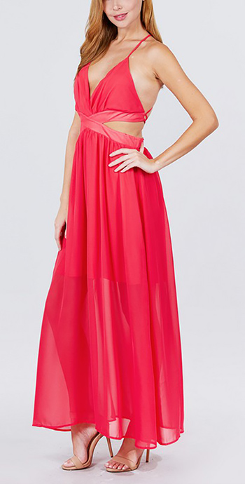 $27.75 - Cute cheap chiffon woven maxi dress
