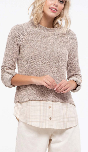 $22.00 - Cute cheap Contrast fabric knit top