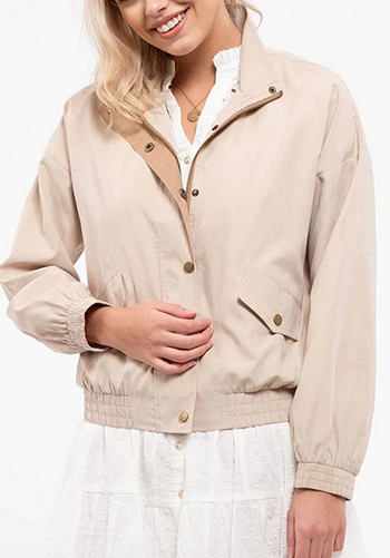 $29.75 - Cute cheap fall - contrast light weight jacket