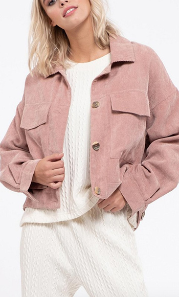 $25.00 - Cute cheap non stretch shearling collar denim jacket 100cotton - corduroy jacket