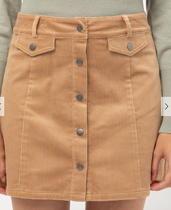 $19.55 - Cute cheap corduroy mini skirt