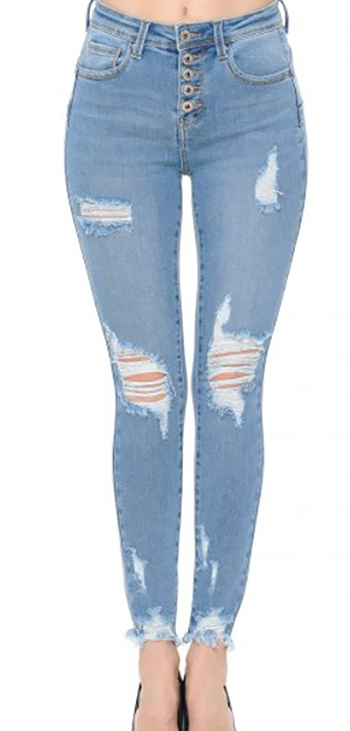 $29.35 - Cute cheap skinny jeans - destructed ankle skinny denim pants