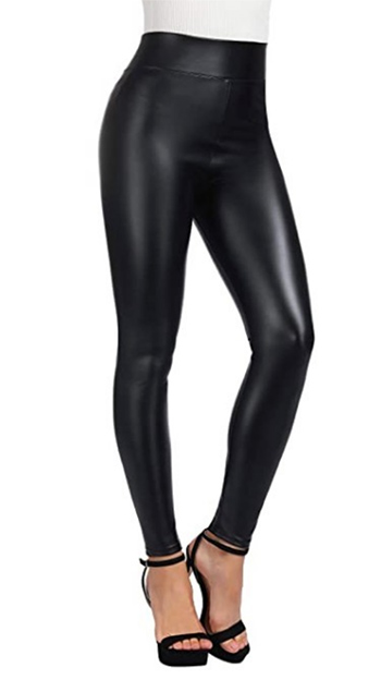 $10.50 - Cute cheap interview outfits - faux leather pants fleece inside