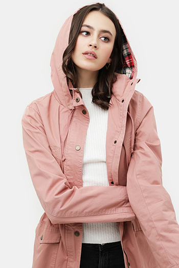 $20.00 - Cute cheap non stretch shearling collar denim jacket 100cotton - flannel plaid hoodie utility cotton anorak jacket