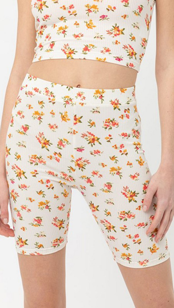 $13.75 - Cute cheap pants - Floral casual bike pants
