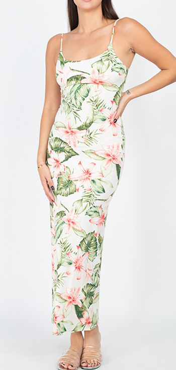 $17.75 - Cute cheap butterfly ruched open back mini dress - floral sleeveless tropical maxi dress