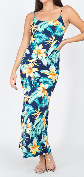 $17.75 - Cute cheap Floral Sleeveless Tropical Maxi Dress