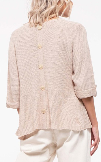 $23.25 - Cute cheap fall - flounce bottom sweater solid top