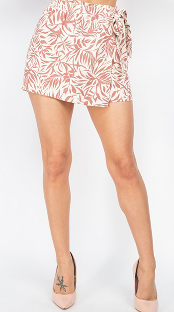 $13.75 - Cute cheap Front Wrap Elasticized Mini Skort