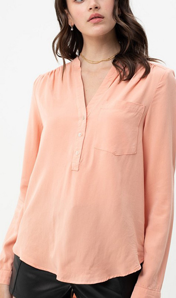 $16.75 - Cute cheap half button up v neck shirt